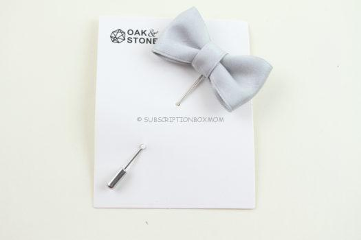 Oak and Stone Bow Tie Lapel Pin