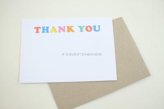 """""""Bold & Bright Thank You Note"""""""