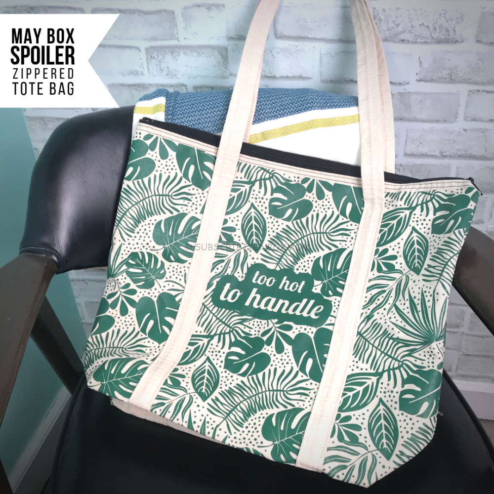Too Hot To Handle Zippered Tote from Smartass & Sass