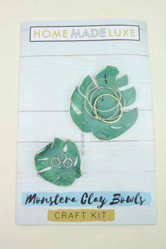 Monstera Clay Bowls