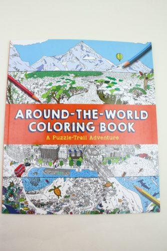 Around-the-World Coloring Book Paperback by Sterling Children's