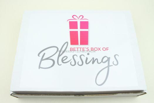 Bette's Box of Blessings July 2019 Review