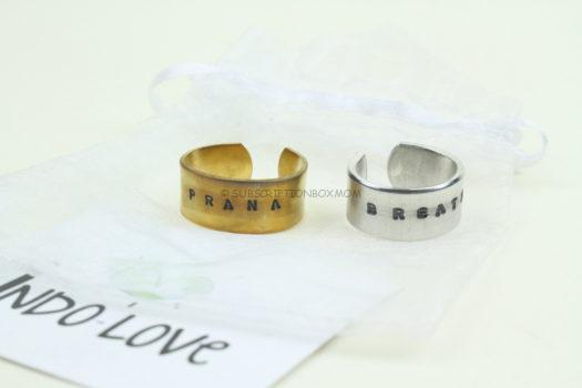 Indo Love Pair of Handstamped Rings