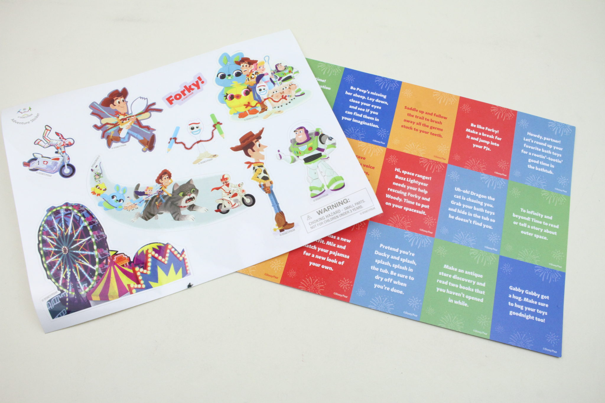 Stickers and Activity Cards