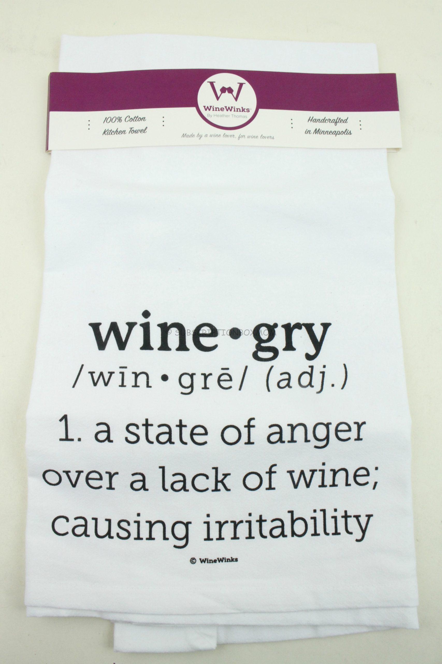 Wine Winks Tea Towel