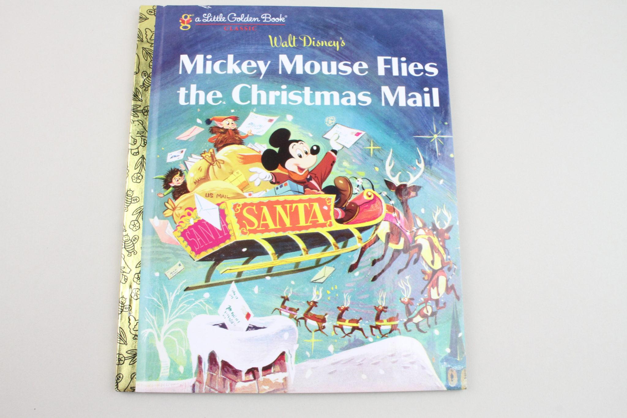 Little Golden Book Walt Disney's Mickey Mouse Flies the Christmas Mail