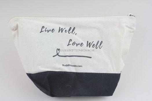 Live Well Love Well Cosmetic Bag