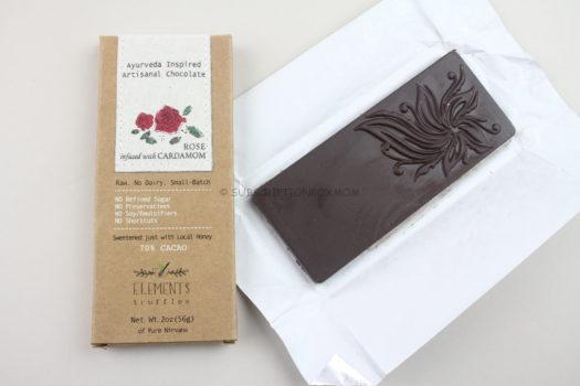 Elements Trufffles Ayuvedic Rose Cardamom Candy Bar