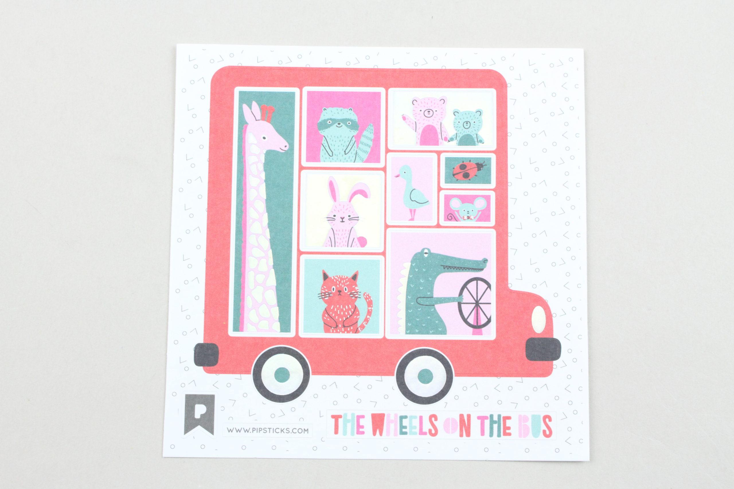 Wheels On The Bus Sticker