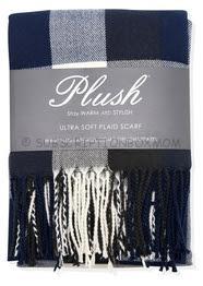 Plush Ultra Soft Plaid Scarf