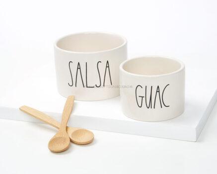 Rae Dunn by Magenta Guac/Salsa Bowls