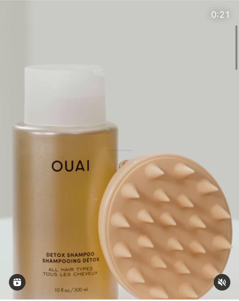 The Ouai Detox Shampoo + Scalp Massager