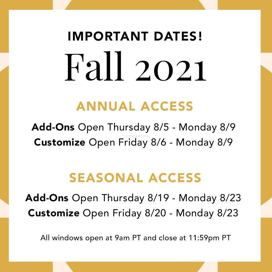 FabFitFun Fall 2021 All Customization Spoilers #3